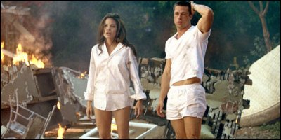 mr. & mrs. smith - a shot from the film
