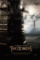 poster from the lord of the rings: the two towers